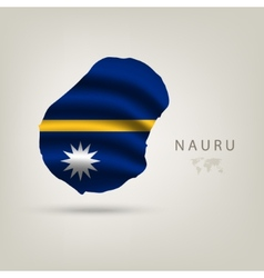 Flag of NAURU as a country with a shadow vector image