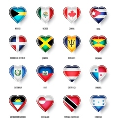 flags of the countries of North America vector image