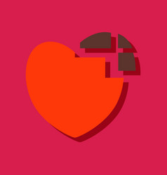 Flat icon design collection heart disease in vector