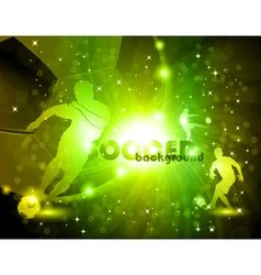 Green abstract soccer background vector image