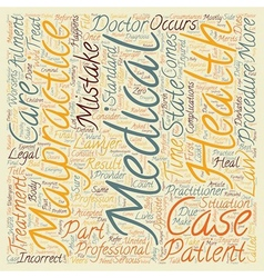 Medical malpractice defined text background vector