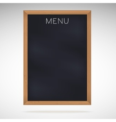 Menu blackboards or chalkboards vector image