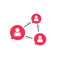 Social network chat icon media sharing concept vector