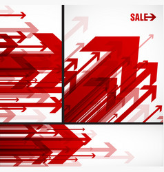Three abstract red arrows background wallpapers vector