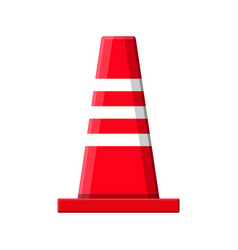 Traffic safety rubber road cone vector