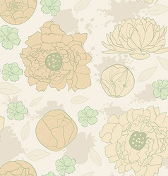 Water color flowers vector