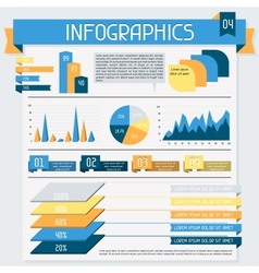 Infographics elements collection Set 4 vector image