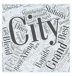 Grand rapids michigan word cloud concept vector