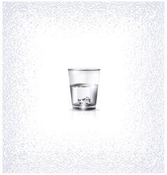 White small glass vector