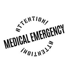 medical emergency rubber stamp vector image