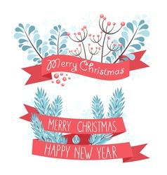 Elegant Christmas greeting banners vector image