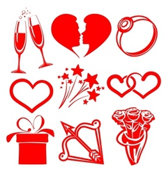 Collection icon valentine day vector