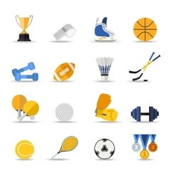 Set of sport isolated icons flat style design vector