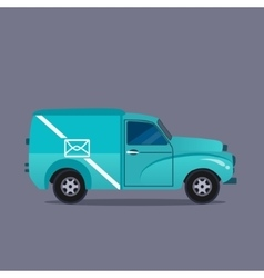 Delivery blue van icons collection vector