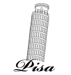 Tower of pisa vector