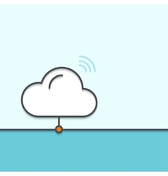 Modern outline flat design of cloud service vector