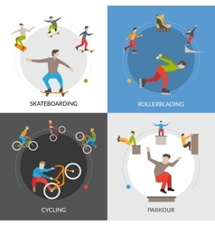 Extreme Urban Sports Square Concept vector image