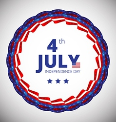 Frame to the independence day of 4th july vector