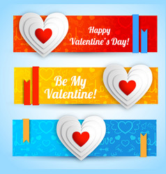 Beautiful lovely horizontal banners vector