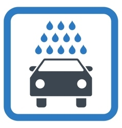 Car Wash Flat Icon vector image