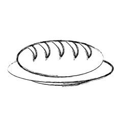 Dish with bread icon vector