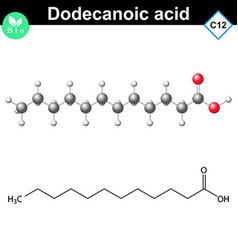 Dodecanoic acid molecule fatty acid vector image vector image