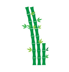 Flat color bamboo tree icon vector