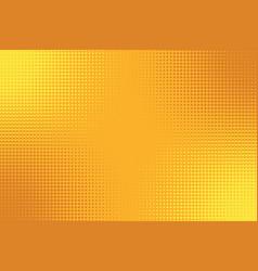golden yellow orange pop art background with vector image