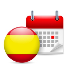 Icon of National Day in Spain vector image vector image