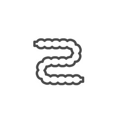 Intestines line icon vector