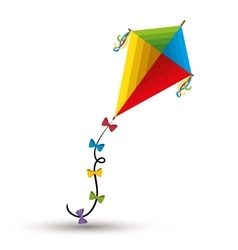 Kite toy isolated icon vector