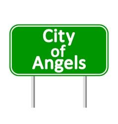 Los angeles green road sign vector