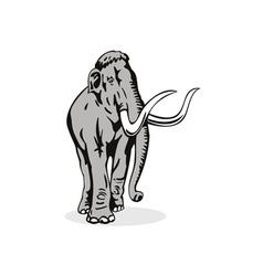 Mammoth elephant vector