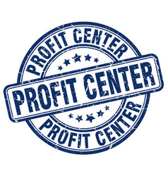 Profit center blue grunge stamp vector