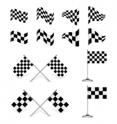 racing flags set vector image vector image