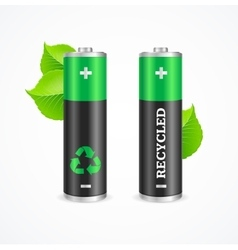 Recycled battery eco concept vector
