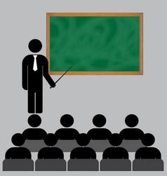 school teacher professor vector image