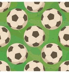 Soccer balls on grass seamless vector image vector image