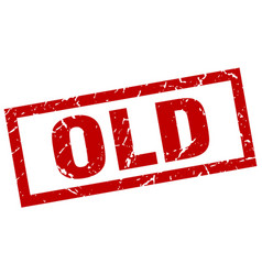 square grunge red old stamp vector image vector image