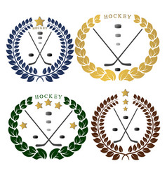 the theme hockey vector image vector image