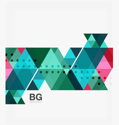 triangle modern mosaic geometric template vector image