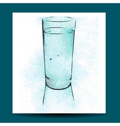 Watercolor glass vector
