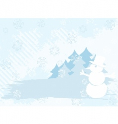 winter background grunge vector image