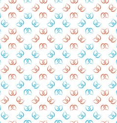 Abstract nature seamless pattern vector