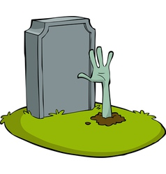 hand out of the grave vector image
