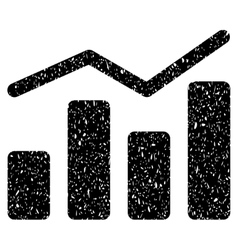 Charts grainy texture icon vector