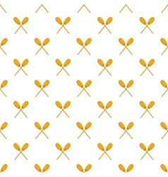 Paddles pattern cartoon style vector