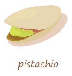pistachio icon isometric 3d style vector image