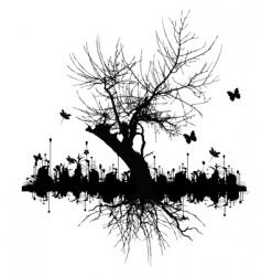 graphic tree vector image