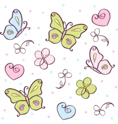 Butterfly cartoons vector